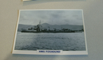 1934 HMS Foxhound Destroyer  warship framed picture